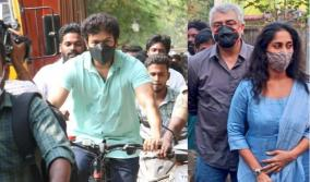 ajith-mask-vijay-s-bicycle-ride-netizens-fiction