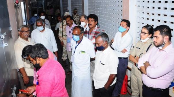 voting-machines-in-karaikal-are-kept-in-a-safe-room-and-sealed
