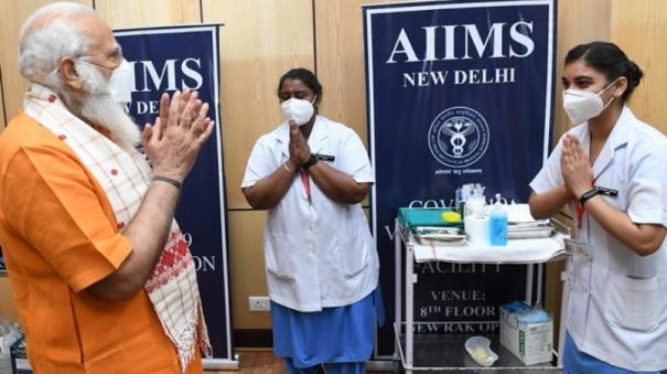 elated-memorable-moment-say-nurses-after-administering-2nd-covid-19-jab-to-pm-modi