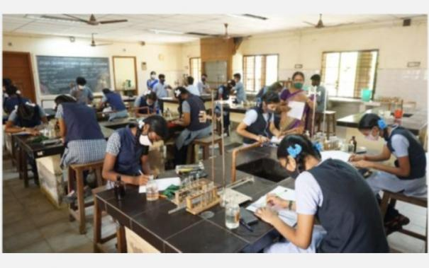 practical-exams-for-plus-2-students-began-with-corona-restrictions