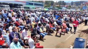 hundreds-protest-in-udagai-demanding-opening-of-tourist-sites-in-the-nilgiris