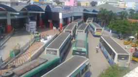 karnataka-curfew-passengers-suffer-due-to-the-stoppage-of-two-state-buses-near-hosur