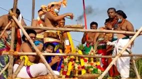 after-23-years-at-the-vaitheeswaran-temple-the-kudamulukku-festival-was-held-without-the-participation-of-the-devotees