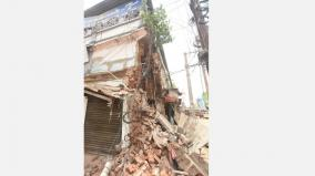 centuries-old-building-collapsed-due-to-rain-in-madurai