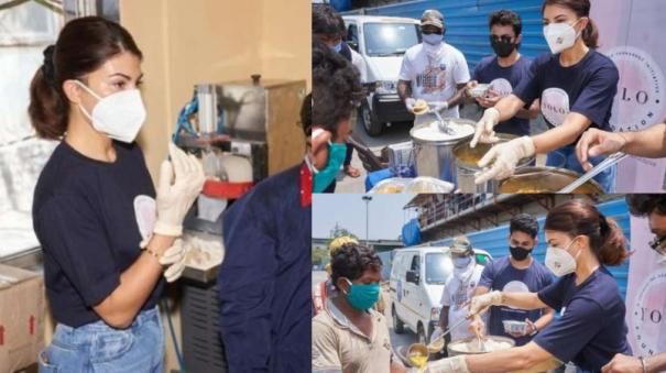 jacqueline-fernandez-helps-feed-people-interacts-with-covid-warriors