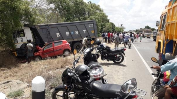 2 died in an accident in karur