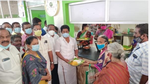 3-times-free-meal-through-amma-restaurant-throughout-the-curfew-dmk-mla-arranged-at-own-expense