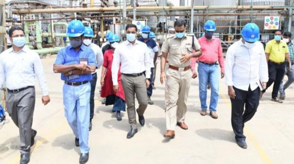 officials-hold-inspection-in-ttucorin-sterlite-factory