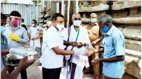 providing-masks-and-food-parcels-to-the-people-on-behalf-of-the-srirangam-temple-administration-decided-to-deliver-daily