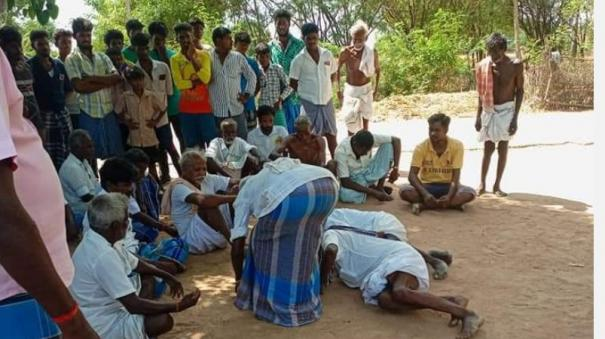 3-villagers-fall-on-their-feet-near-villupuram-order-to-file-a-case-under-the-prevention-of-torture-act