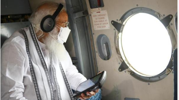 prime-minister-narendra-modi-conducts-an-aerial-survey