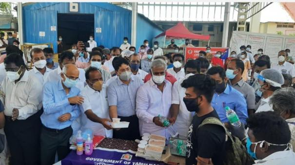 helpline-for-out-of-state-workers-affected-by-corona-minister-led-team-inspects