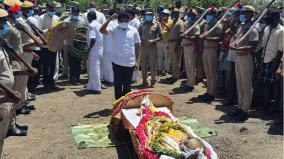 writer-kirajanarayanan-laid-to-rest-with-full-state-honour