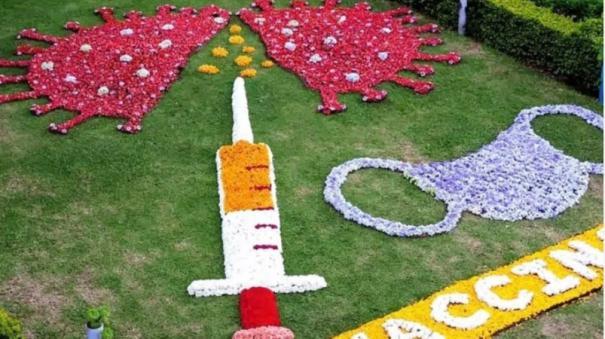 mask-with-10-thousand-flowers-vaccine-innovative-corona-awareness-in-kodaikanal