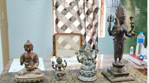4-idols-confiscated-from-priest-s-house-near-tiruchuli-4-people-arrested