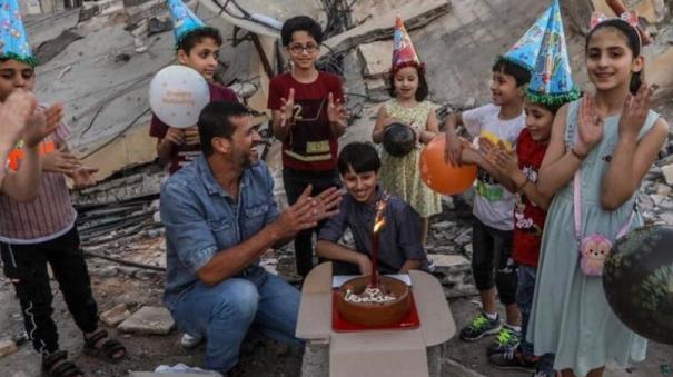 gaza-boy-celebrates-birthday