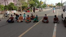 farmers-block-road-in-trichy-condemning-the-central-government