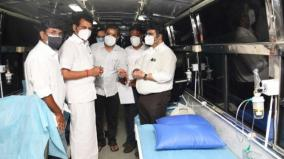 oxygen-bus-to-karur-government-medical-college-cii-presents-to-the-collector-in-the-presence-of-the-minister