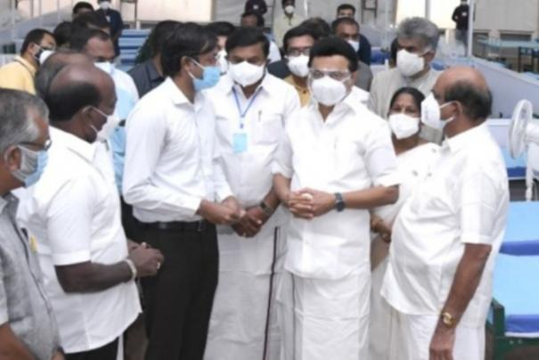 100-bed-facility-with-oxygen-facility-in-tirupur-20-car-ambulance-project-launched-by-cm-stalin