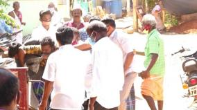 sivagangai-ruckus-in-giving-token-for-ration-goods