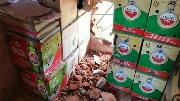 1-50-lakh-worth-of-liquor-bottles-stolen-from-tasmac-near-arcot