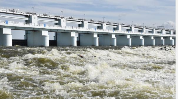 the-cauvery-water-came-to-the-trident-dam-reaches-the-tomb-overnight