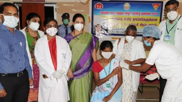 sivagangai-collector-on-vaccination-drive-for-breast-feeding-mothers