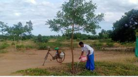 youth-planting-saplings-in-a-public-place-near-pudukkottai-and-guarding-it-minister-praised