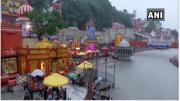 Devotees take holy dip at Har Ki Pauri Ghat, Haridwar on Ganga Dussehra