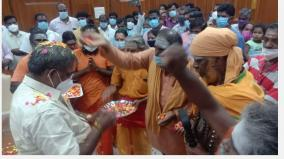special-pooja-for-sivanadiars-in-the-puducherry-assembly-hall-to-rule-without-interruption