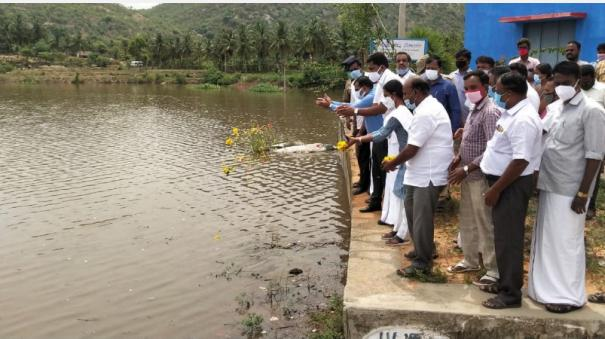 irrigation-of-the-lake-by-heavy-rains-flower-sprinkling-welcome-to-the-pullur-dam-water