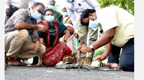 are-gravel-sand-and-compounds-correct-coimbatore-collector-inspects-new-tarred-road