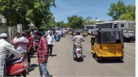 trichy-collector-s-office-road-which-was-seen-by-a-crowd-of-people-after-2-months