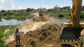construction-of-temporary-road-across-vaigai-river