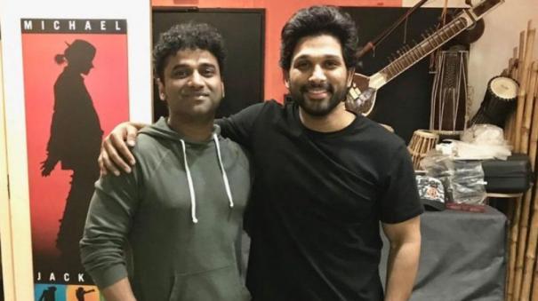 allu-arjun-sends-music-composer-devi-sri-prasad-a-surprise