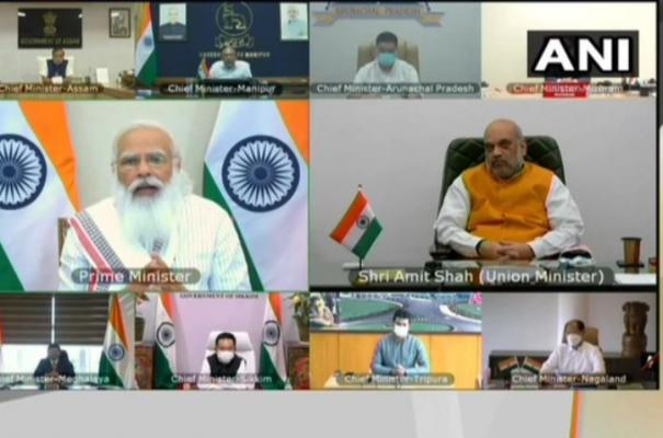 prime-minister-narendra-modi-interacts-with-chief-ministers-of-the-north-eastern-states-on-the-covid19-situation