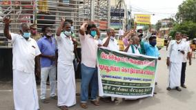 cauvery-rights-group-arrests-20-for-trying-to-burn-eduyurappa-statue