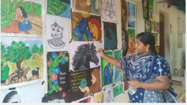 a-college-student-decorating-a-house-with-colorful-paintings-near-pudukkottai