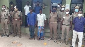 country-gun-explodes-and-injures-forest-ranger-in-dharmapuri-two-arrested