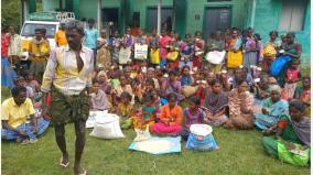 tribal-protest-near-udumalai-refusing-to-buy-substandard-ration-rice