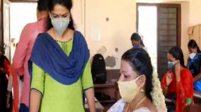 45-year-old-specially-abled-kerala-woman-appears-for-class-10-exam-soon-after-her-wedding
