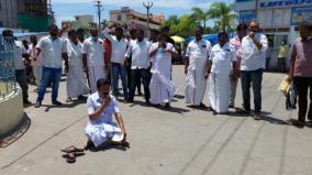 jayalalithaa-university-closure-cv-shanmugam-alone-in-tarna-protest-arrested