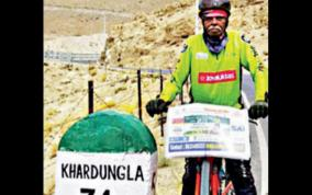 man-cycles-from-kerala-to-ladakh-to-celebrate-80th-birthday