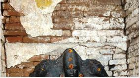 1300-year-old-pallava-painting-and-statue-found-at-bagkam-hill-near-ginger