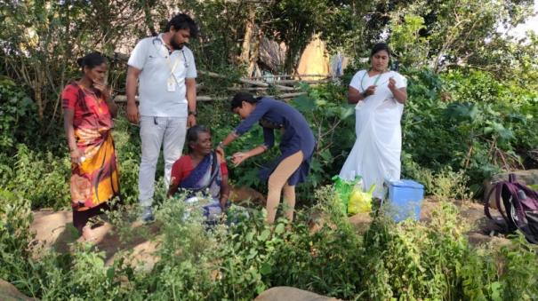 free-medical-camp-in-a-roadless-hill-village-near-hosur-nurses-who-went-to-the-tribal-workplace-and-were-vaccinated
