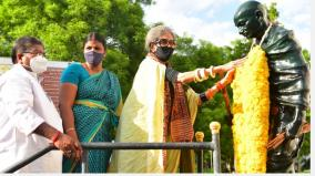 gandhiji-s-costume-revolution-centenary-celebrations-gandhi-s-granddaughter-came-to-madurai-to-participate