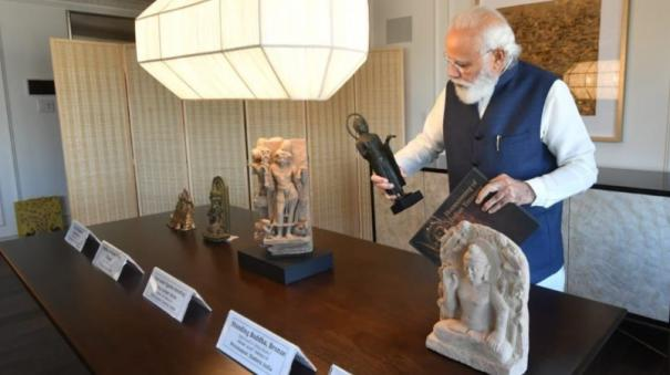 pm-modi-to-bring-back-157-antiquities-handed-over-by-us