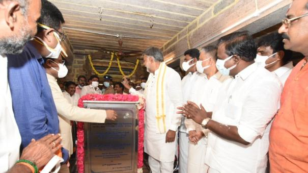 coconut-water-offering-tool-at-punnainallur-mariamman-temple-inauguration-by-the-union-minister