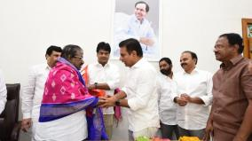 neet-dmk-dks-ilangovan-meets-telangana-chief-minister-s-son-to-unite-other-state-chief-ministers
