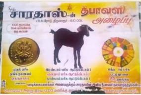 4-gram-gold-goat-silkworms-gift-in-shake-praise-for-thiruvarur-textile-shop